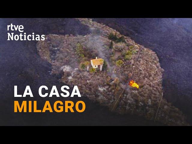 LA PALMA: Una casa QUEDA INTACTA en medio de la LAVA y se convierte en SÍMBOLO de ESPERANZA   RTVE