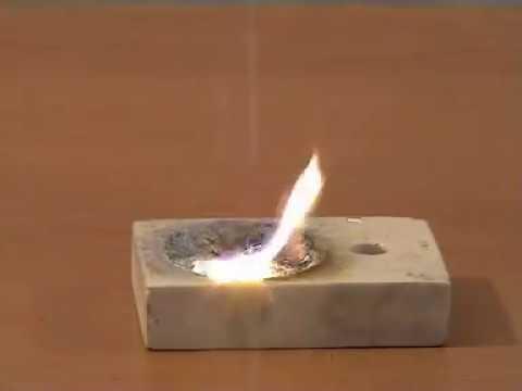 Bột nhôm tác dụng với lưu huỳnh Al + S