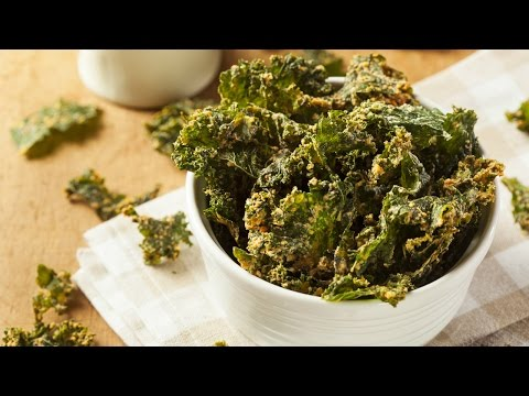 Homemade Green Kale Chips || Oven Baked