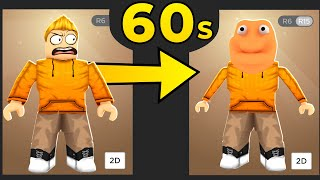 Roblox but Every 60 Seconds my Avatar Changes