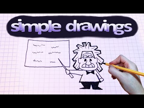 Simple Drawings #42 How To Draw Einstein