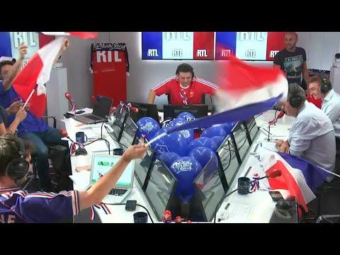 Coupe du Monde 2018 : explosion de joie dans le studio de RTL à la fin de France-Croatie