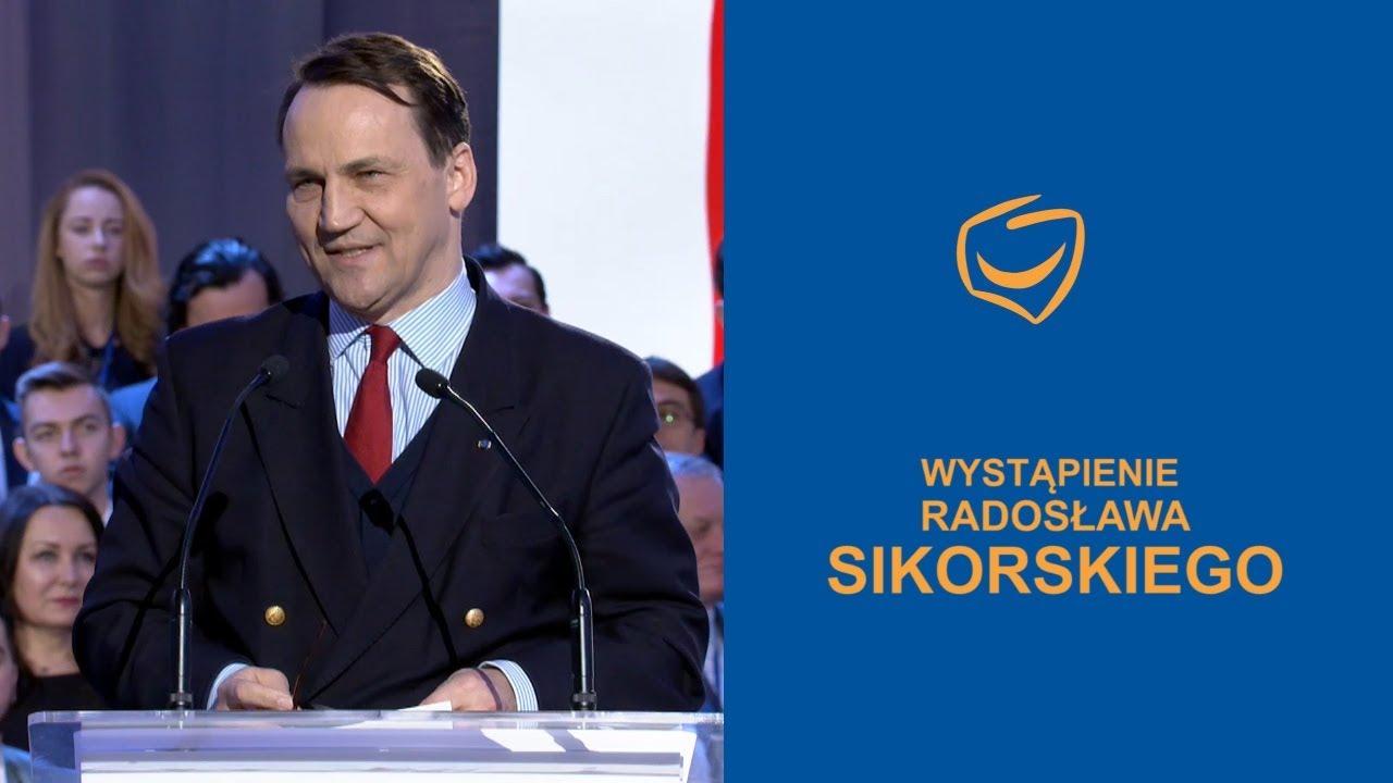 Wystąpienie Radosława Sikorskiego, Rada Krajowa PO, Warszawa, 24.02.2018