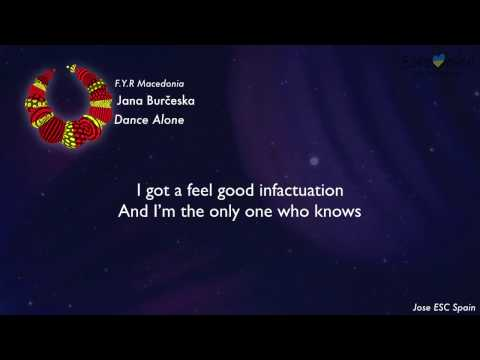 Jana Burčeska - Dance Alone (F.Y.R Macedonia) [Karaoke Version]
