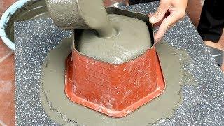 DIY Hexagonal Pots Beautiful At Home | Techniques Molded Pots Cement For Beginner