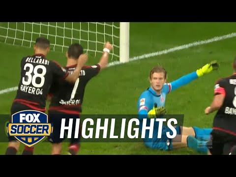 Chicharito's first Bundesliga goal | Bayer Leverkusen vs. Mainz - 2015–16 Bundesliga Highlights
