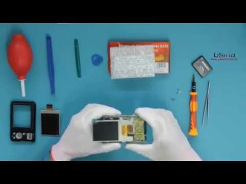 Desmontagem E Troca Do LCD Da Câmera Samsung ES-25