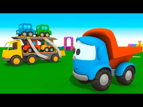 Leo Junior araba taşıyıcısı yapıyor - Çizgi film