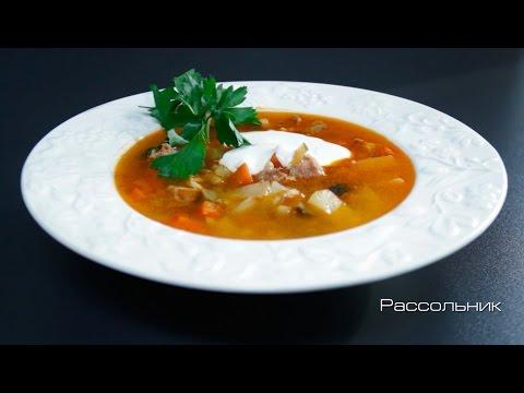Суп в мультиварке с солеными огурцами