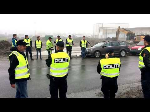 Norges Bondelag demonstrerer utenfor Asko i Vestby.