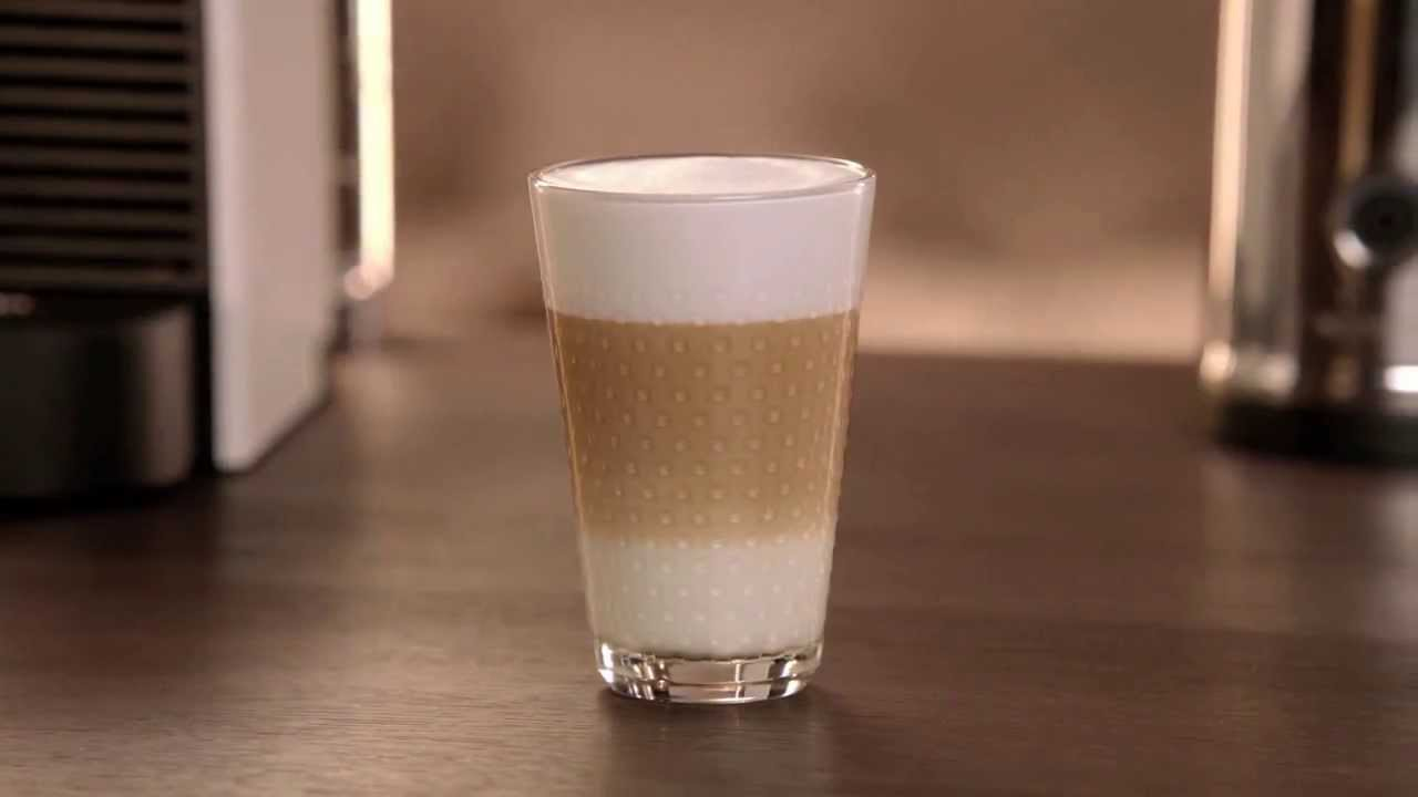 a perfect latte macchiato with nespresso u youtube. Black Bedroom Furniture Sets. Home Design Ideas