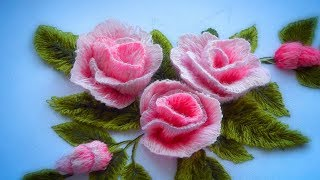 Hand Embroidery |How to embroider a rose | Как вышить розу