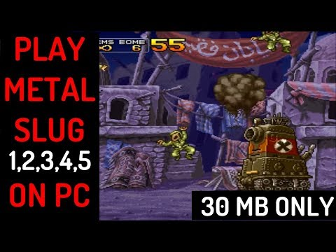 How To Download & Play Metal Slug X (& 1,2,3,4,5) On PC (30 MB Highly Compressed)