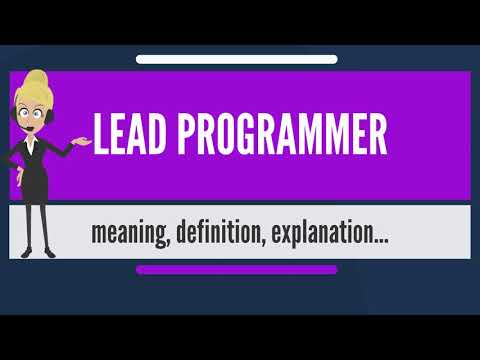 What is LEAD PROGRAMMER? What does LEAD PROGRAMMER mean? LEA