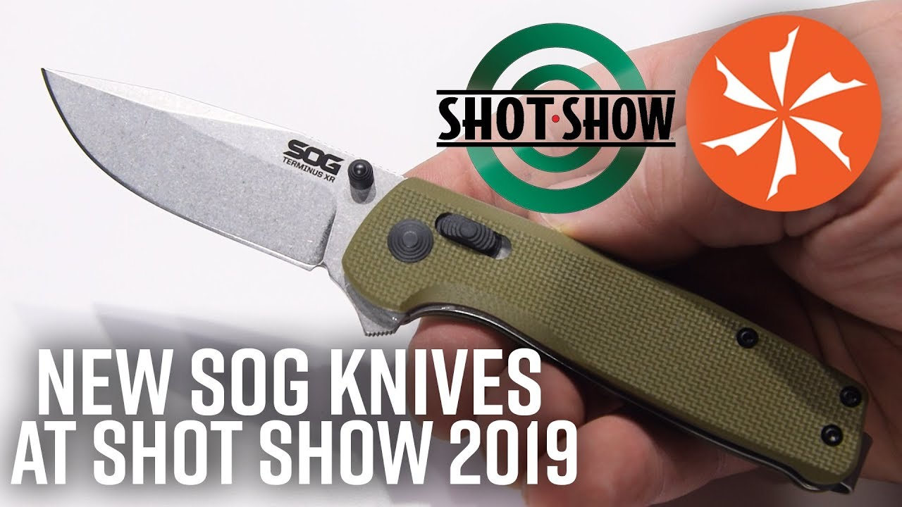 New SOG Knives and Multitools at SHOT Show 2019 (KnifeCenter Coverage)