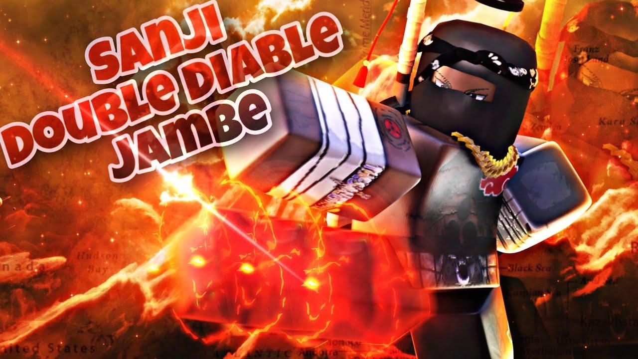 Roblox Square Piece Awakening Sanji Double Diable Jambe Black Leg Youtube