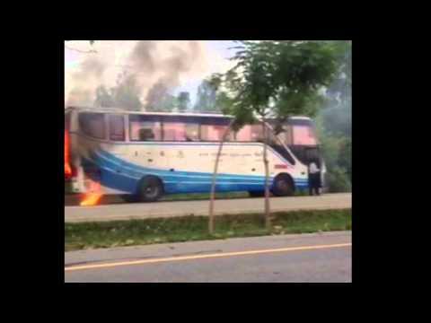 ไฟไหม้รถบัสเชียงใหม่-กรุงเทพหวิดดับ