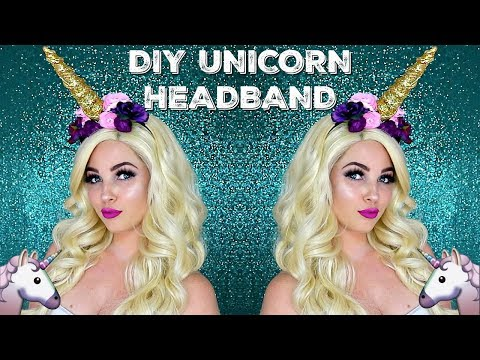 DIY UNICORN HORN HEADBAND | HALLOWEEN COSTUME MAKEUP