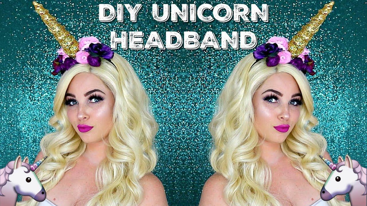 DIY UNICORN HORN HEADBAND | HALLOWEEN COSTUME MAKEUP  sc 1 st  YouTube & DIY UNICORN HORN HEADBAND | HALLOWEEN COSTUME MAKEUP - YouTube