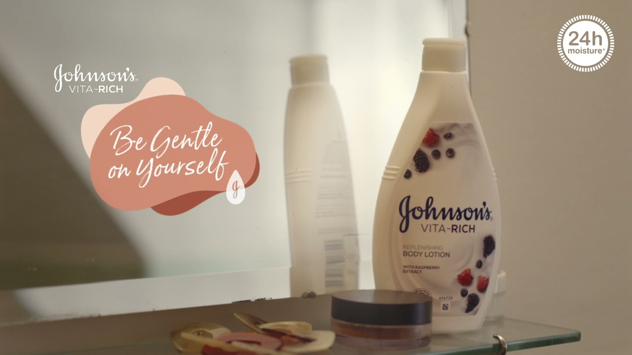 Be gentle on yourself with Johnson's® Vita-Rich lotion