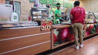 Fake Subway Employee Prank! **cops called**