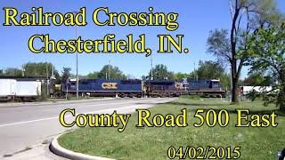 Railroad Crossing: CR 500 East, near Chesterfield, IN. CSX Main Tracks 1&2