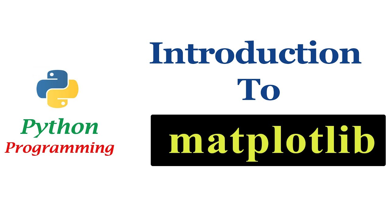 Python Programming Tutorials - Introduction to matplotlib