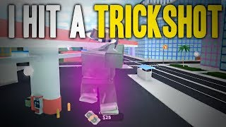 I ACTUALLY HIT A TRICKSHOT ON ROBLOX MAD CITY...