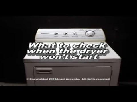 Not Starting Maytag Performa Dryer
