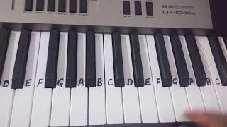 Ghar me padharo Gajanan ji | Keyboard tutorial|Harmonium|Piano| Easy