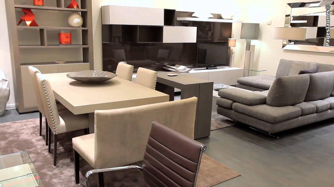home center mobilier contemporain paris youtube - Mobilier Contemporain