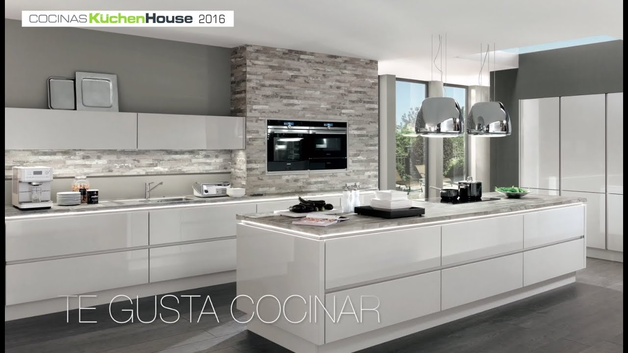 Cocinas alemanas kuchenhouse 2016 youtube for Cocinas minimalistas 2016