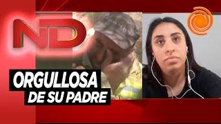 """La hija del bombero que se hizo viral con su pedido de perdón: """"Me tocó el mejor papá del mundo"""""""
