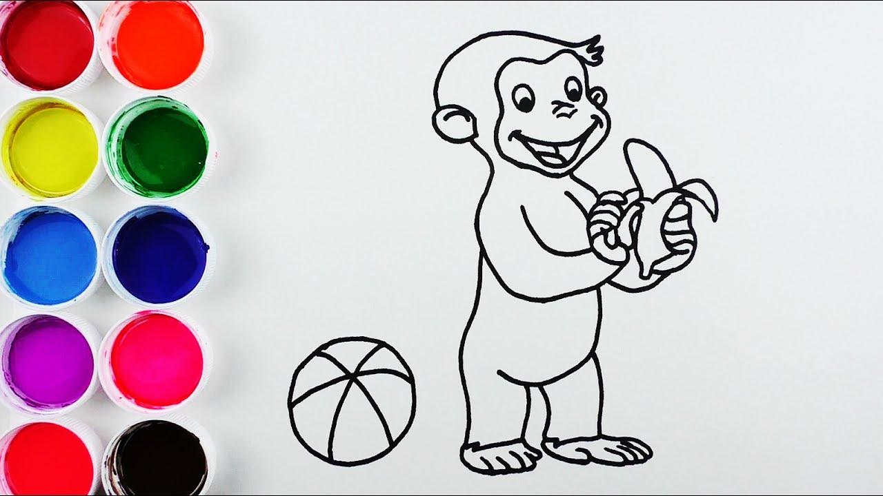 Dibuja y Colorea George el Curioso de Arcoiris - Videos Para Niños ...