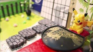 和皮卡丘一起到日式茶屋,吃和菓子、蕎麥麵|RE-MENT微型玩具/ピカチュウでお茶屋に行く!でっかいかき氷!/¡Ve a la cafetería japonesa con Pikachu