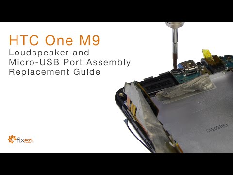 How to repair the HTC One M9 Loudspeaker, Headphone Jack, Micro-USB Port