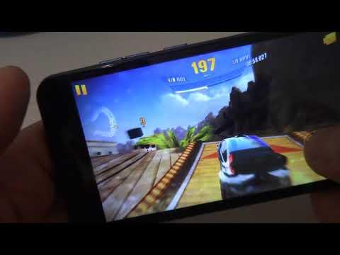 Игровые возможности смартфона Vertex Luck NFC (4G) на примере Asphalt Xtreme.