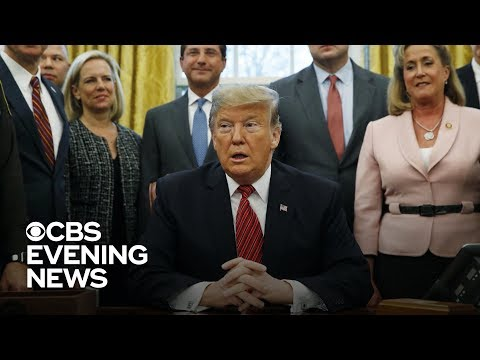 Trump spars with Democrats in talks to end shutdown