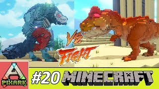 PIXARK - Minecraft Ark #20 - Werewolf Vs T-Rex - Werewolf Đấu Với T-Rex