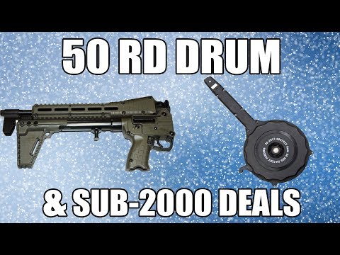 50rd Drum Magazine And Firearms To Match