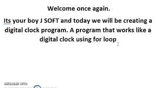 Het maken van een digitale klok voor beginners - QBASIC TUTORIAL door J SOFT