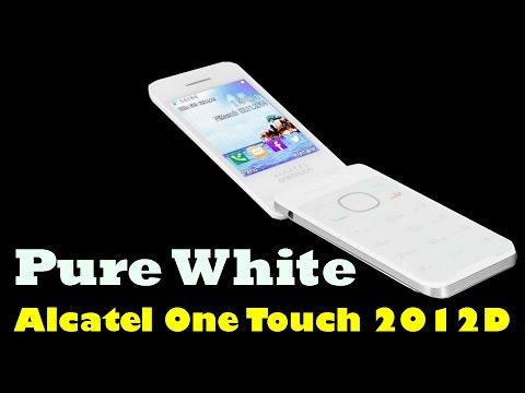 Красивый белый мобильный телефон Alcatel One Touch 2012D Dual SIM Pure White Женский телефон