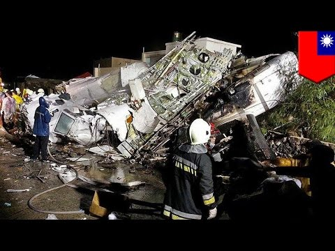 Taiwan plane crash: 48 dead as Kaohsiung-Pengu flight slams into village on 2nd landing attempt - TomoNews US  - c4APACMy35I -
