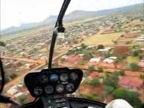 Pretoria to Tooseng village in a R44 helicopter