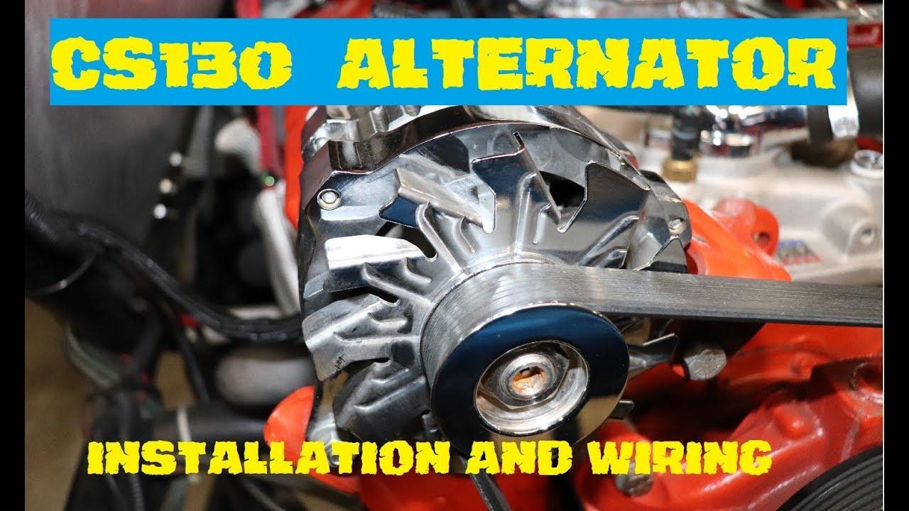 Cs130 Alternator Install Wiring Youtube