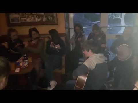 Session at Gerard Linnane's pub Kilfenora