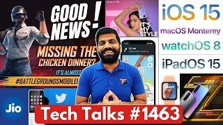 Tech Talks#1463-BGMI Launch Great News、iOS 15、iQOO Z3 India、Poco M3 Pro 5G、Twitter BAN、WWDC