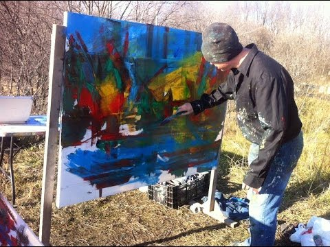 How To Oil Paint Abstract Paintings: Composition, Painting Tips
