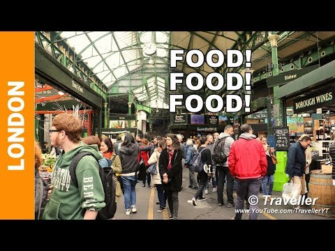 London attractions - Street food at Borough Market in London