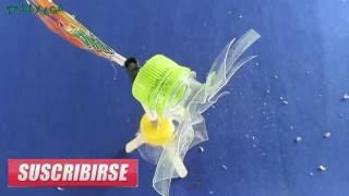 Как сделать вертушки с помощью пластиковой бутылки!!!